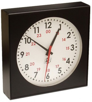 "LX-5112 - Self-Setting 12"" Analog Clock"